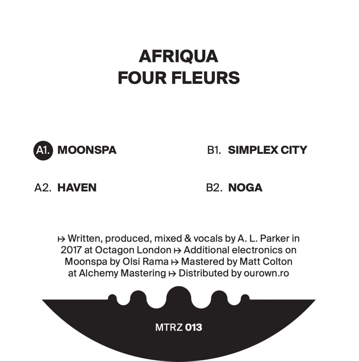 Metereze presents Four Fleurs EP, the long awaited debut of Afriqua on Raresh's imprint